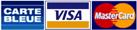 Paiement en ligne via Carte Bleue, Visa, Mastercard