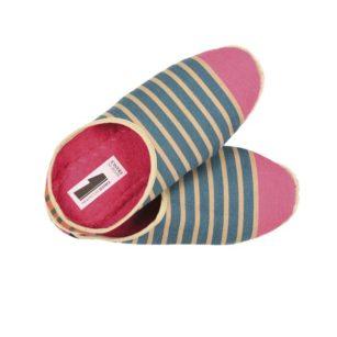 Chaussons petites tailles OSTABAT BLEU/ROSE