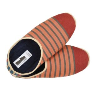 Chaussons petites tailles OSTABAT ORANGE/MARINE