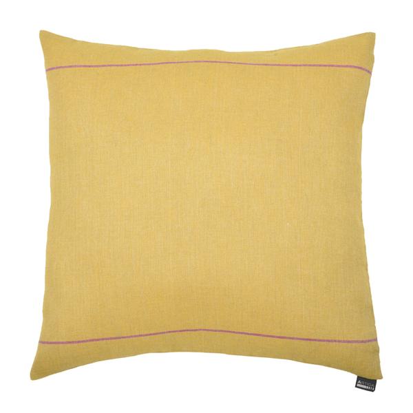 coussin carr 60 x 60 cm elaine jaune artiga. Black Bedroom Furniture Sets. Home Design Ideas
