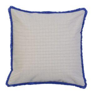 Coussin carré frange - 40x40 cm SAUVELADE
