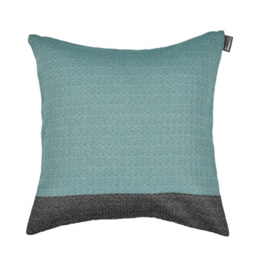 Coussin carré tissage chevron coton recylclé 40x40 EMERAUDE/NOIR