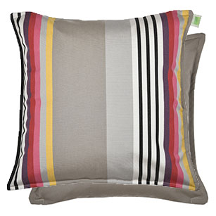 Coussin carré Biface 60x60 cm - Outdoor Sunbrella INDIEN/TAUPE
