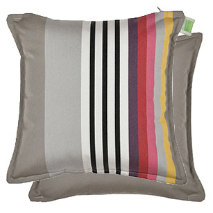 Coussin carré Biface 40x40 cm Outdoor Sunbrella INDIEN/TAUPE
