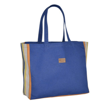 Grand Sac en Jean recyclé Ony 45x38x15cm BLEU ROYAL/GOUTS