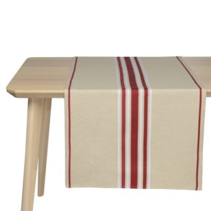Jeté de table CORDA METIS BX BLANC