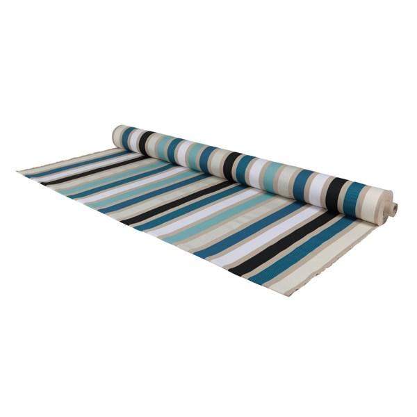 M trage toile coton 160 cm de large garlin bleu artiga - Rideau 160 de large ...