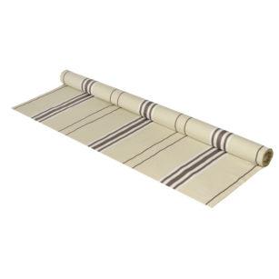 Métrage toile coton - lin en 170 cm CORDA METIS ACIER/BL