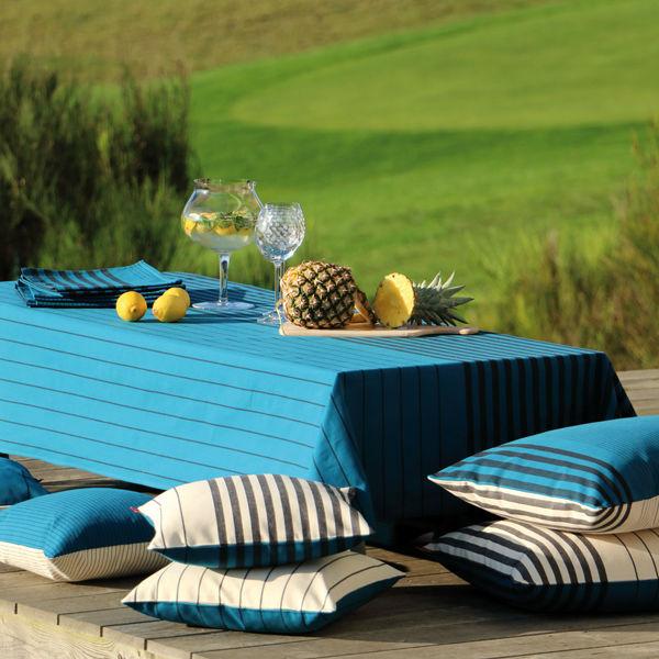 m trage toile enduite en 155 cm sauvelade petrole artiga. Black Bedroom Furniture Sets. Home Design Ideas