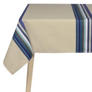 Nappe coton lin MAULEON BLEU DO