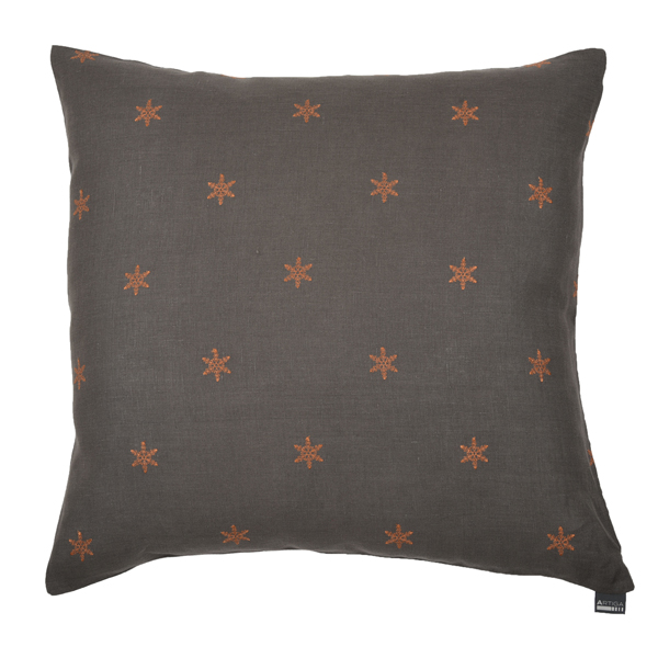 coussin carr 60 x 60 cm taupe floc cuivre artiga. Black Bedroom Furniture Sets. Home Design Ideas
