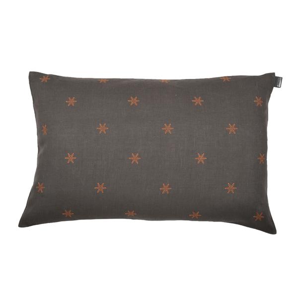 coussin rectangulaire taupe floc cuivre artiga. Black Bedroom Furniture Sets. Home Design Ideas
