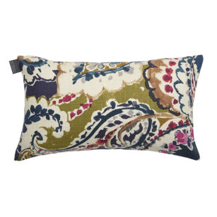 Petit coussin rectangulaire 25x45cm ARETHA NAVY