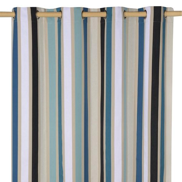rideau garlin bleu artiga. Black Bedroom Furniture Sets. Home Design Ideas
