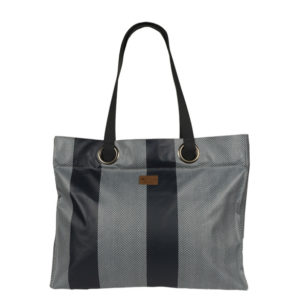 Sac week-end Aniko 42x52x16cm CHEVRON BLEU CANARD