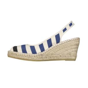 Sandale compensée LACQUY BLEU