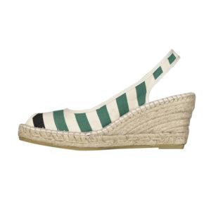 Sandale compensée LACQUY VERT