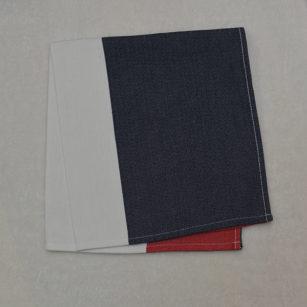 Serviette de table BLEU/BLANC/ROUGE
