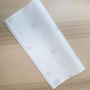 Serviette de table brodée BLANC/FLOC GOLDSILVER
