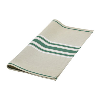 Serviette de table CORDA METIS EPINARD/BLANC