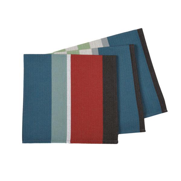 Serviette de table tyrosse bleu artiga - Serviette de table bleu roi ...