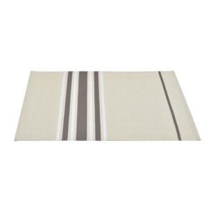 Set de table enduit 48x40cm CORDA METIS ACIER/BL