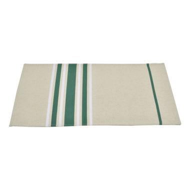 Set de table enduit 48x40cm CORDA METIS EPINARD/BLANC