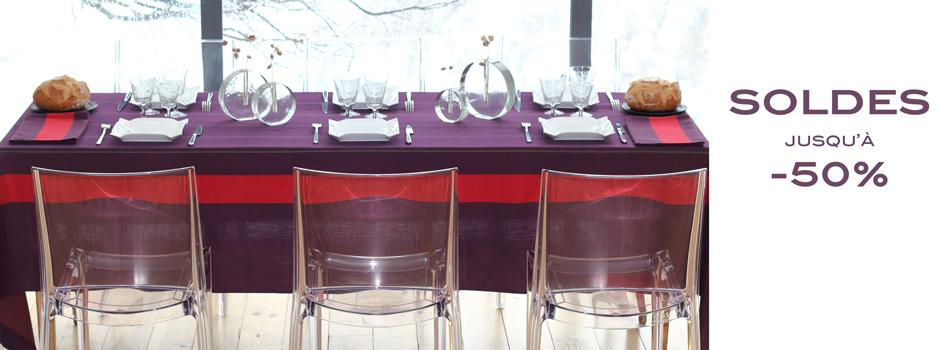 Soldes hiver linge de table Artiga