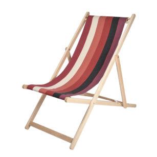 Toile à transat - prête à poser - pour chilienne/chaise longue LAAS ROUGE