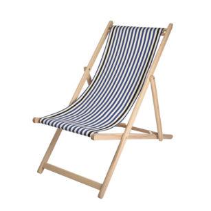Toile à transat - prête à poser - pour chilienne/chaise longue LACQUY BLEU