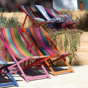Toiles pour chiliennes outdoor artiga for Chaise longue pour balcon