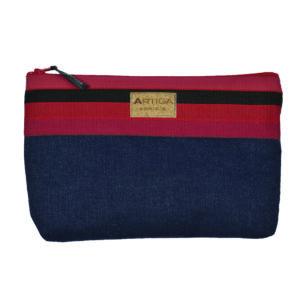 Trousse en jean pour sac à main LAAS ROUGE