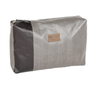 Trousse toilette Andrea CHEVRON MARRON